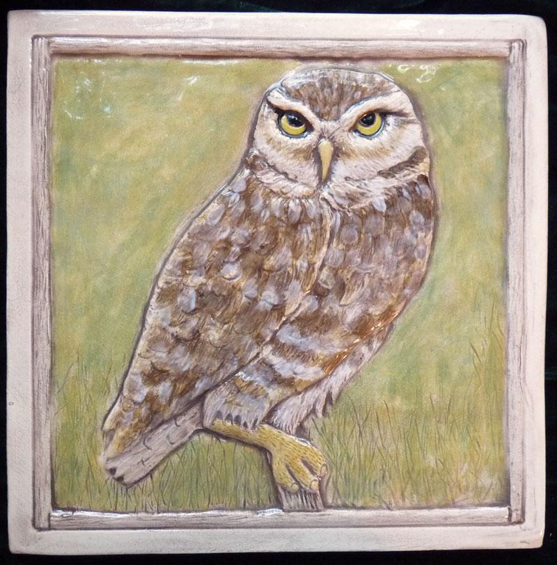 decorative ceramic owl tile - Decorative Ceramic Tile