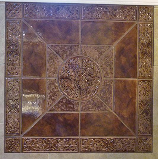 Celtic floor tiles