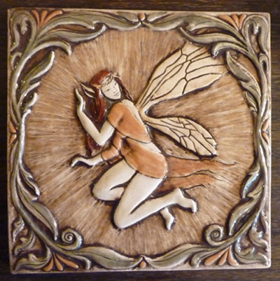 Celtic fairy ceramic tile