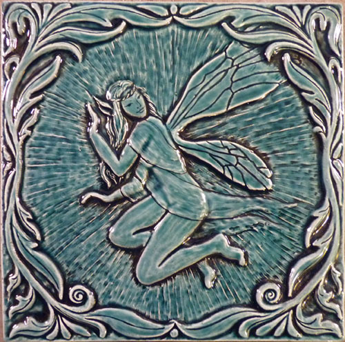 Ceramic faerie tile