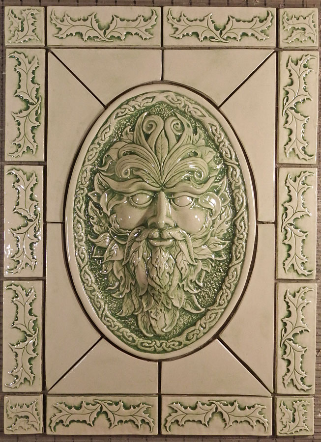 green man tile set