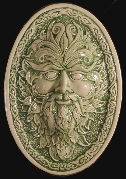 green man tile