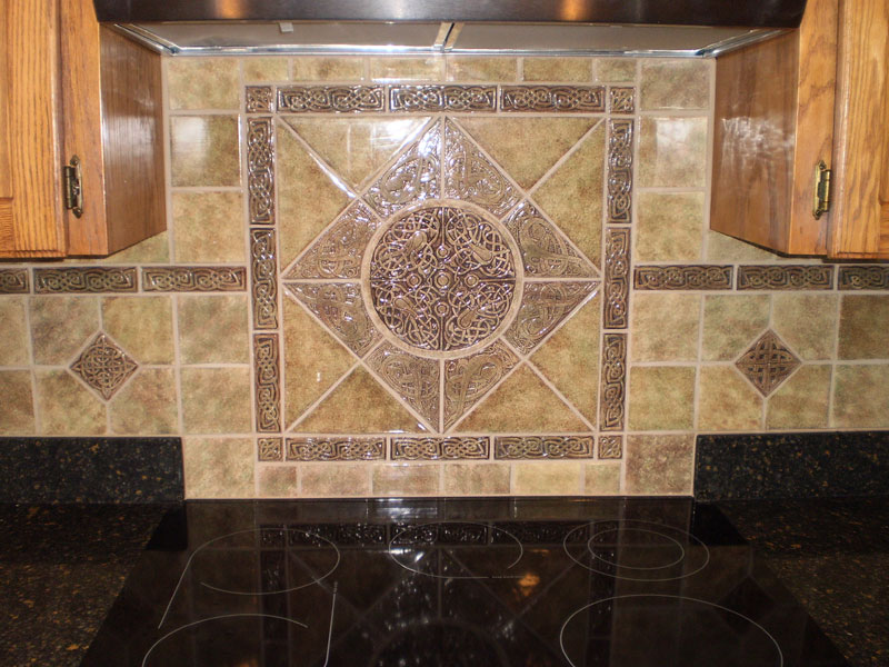decorative ceramic tile installation