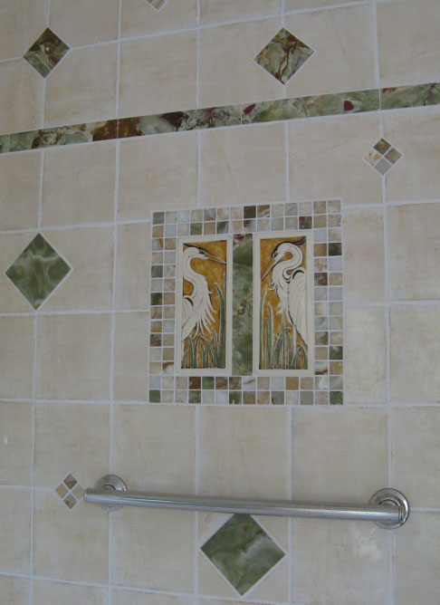 handmade ceramic tile