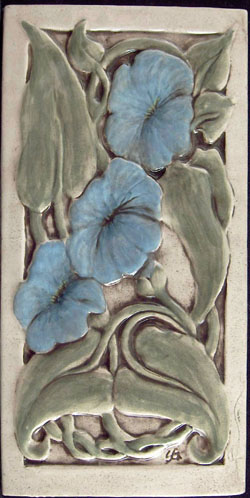 ceramic flower tile