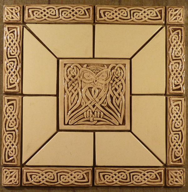 Celtic Tiles - 3 inch square ceramic tiles