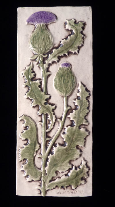 decorative thistle tile