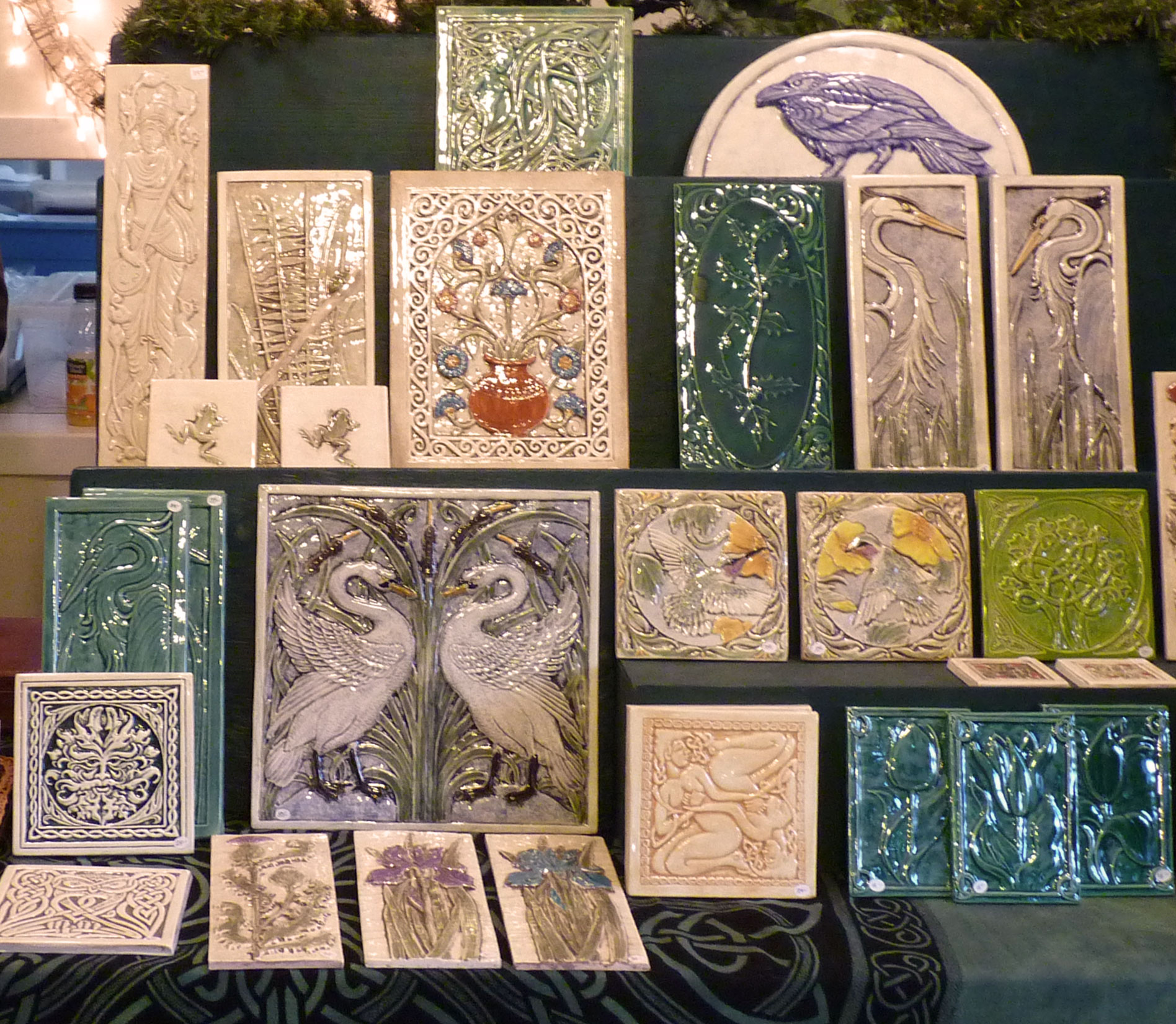Making tiles handmade ceramic tiles dailygadgetfo Image collections