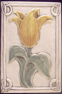 decorative ceramic tulip tile